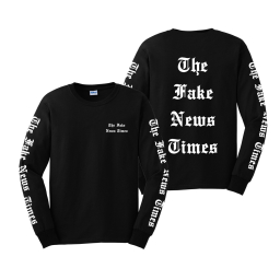 Fake News TIMES Longsleeve T-Shirt Black