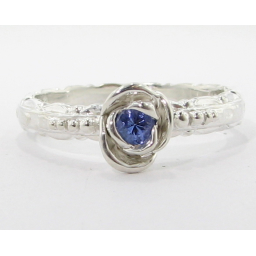 Edwardian Rose Solitaire, Tanzanite & Sterling Silver