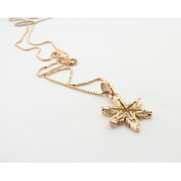Rose Gold Snowflake Necklace, Ludington