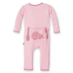 Kickee Pants Applique Coverall Lotus Porcupine