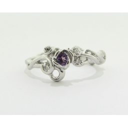 Rose Garden Ring, Diamonds & Amethyst