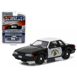 Greenlight 1990 Ford Mustang SSP CHP Hot Pursuit Series Release 21 1:64 Scale Diecast Model Car