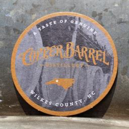 Round Paper Coasters - CBD State [Barrels] (Single)