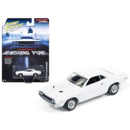 Johnny Lightning Vanishing Point 1970 Dodge Challenger R/T White 2017 Series Release 3 1:64 Scale Diecast Model Car