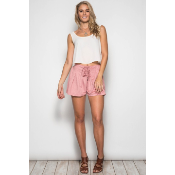 Think Of You Suede Shorts