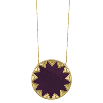 House of Harlow Large Sunburst Pendant Necklace Violet