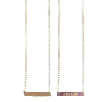 mimi & lu words to live by necklace