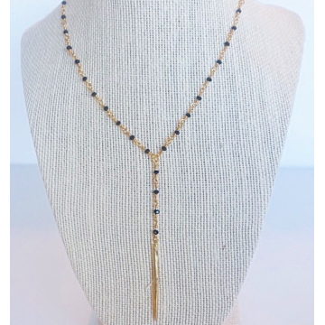 Gypsea Jewels Gold Spike Y Necklace