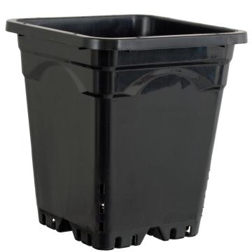 "Active Aqua Square Black Pot 12"" Tall,  12"" x 12""  UNIT"