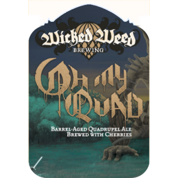 Wicked Weed 'Oh My Quad!' Barrel Aged Abbey-Style Ale 375ml