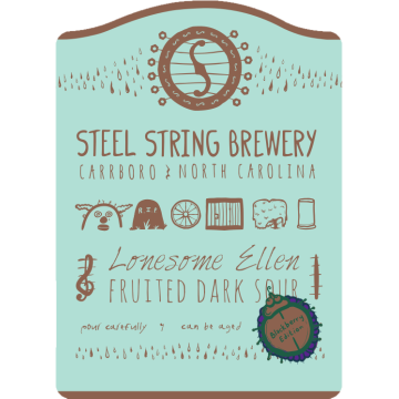 Steel String 'Lonesome Ellen - Blackberry Edition' Fruited Dark Sour 500ml