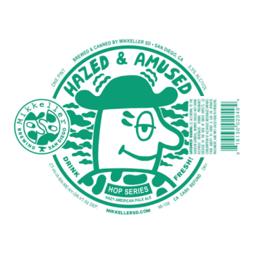 Mikkeller SD 'Hazed and Amused' East Coast Style American Pale 16oz Sgl (Can)