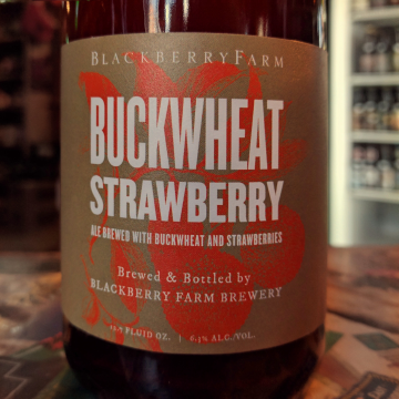 Blackberry Farm 'Buckwheat Strawberry' Wild Farmhouse Ale 375 ml