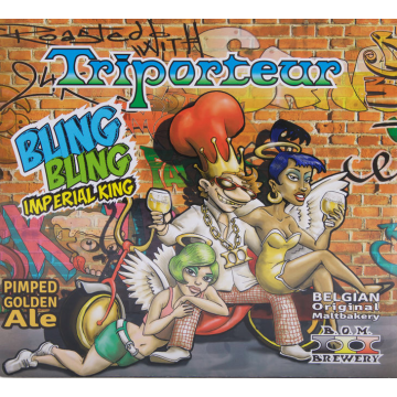 B.O.M. 'Bling Bling Imperial King' Pimped Golden Ale 11.2oz Sgl