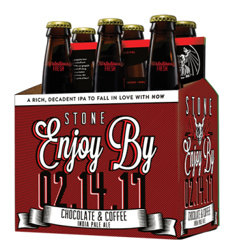 Stone 'Enjoy By 02.14.17' Chocolate & Coffee IPA 12oz Sgl