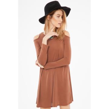 MODAL COLD SHOULDER DRESS