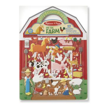 M&D Puffy Sticker Set- Farm