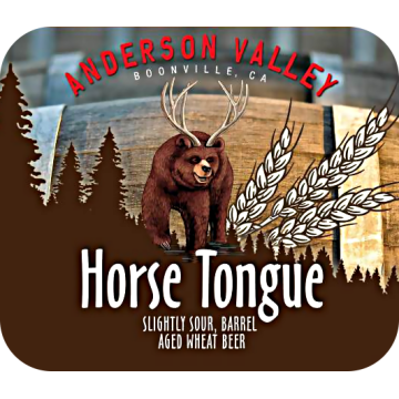 Anderson Valley 'Horse Tongue' Barrel Aged Sour Wheat Ale 22oz