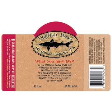 Dogfish Head 90 Minute IPA Case (12oz - Box of 24)