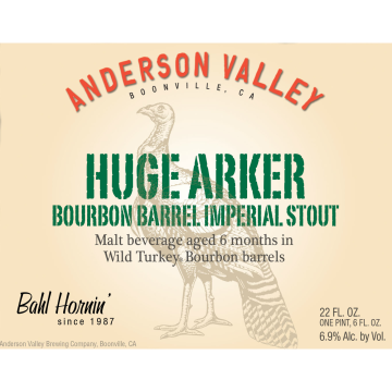 Anderson Valley 'Huge Arker' Imperial Stout 22oz