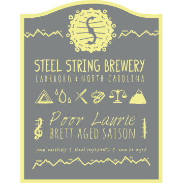 Steel String 'Poor Laurie' Brett Aged Saison 500ml