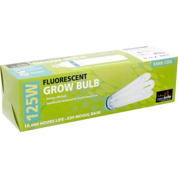 Compact Fluorescent Lamp, AGROBRITE, Cool, 125W, 6500K Grow
