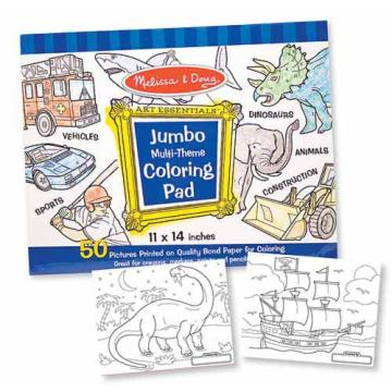 M&D Jumbo Coloring Pad- blue