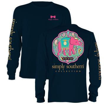 Youth Simply Southern Prep Let God Long Sleeve T-shirt