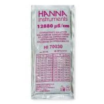 Hanna 12880 uS/cm Calibration Solution, 20mL Per Unit