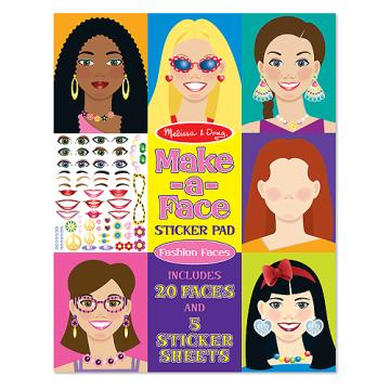 M&D Sticker Pad- Make a Face Fashion