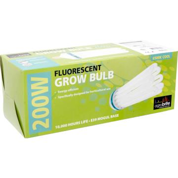 Compact Fluorescent Lamp, AGROBRITE, Cool, 200W, 6500K Grow