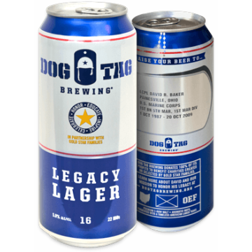 Dog Tag Brewing 'Legacy Lager' Can 16oz - Case (Box of 24)