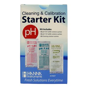 Hanna Cleaning & Calibration Solution Starter Kit (pH & Cleaning)