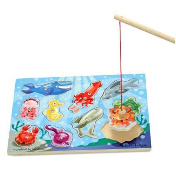 M&D Magnetic Wooden Fishing Game