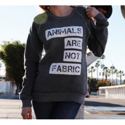 Animals are not fabric sweatshirt