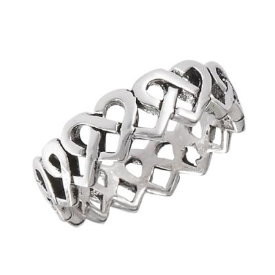 Ring: Love Knot Band, Open, SS