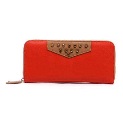 Red & Nude Top Stud Wallet
