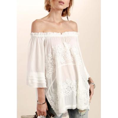 Ivory Boho Off the Shoulder Top