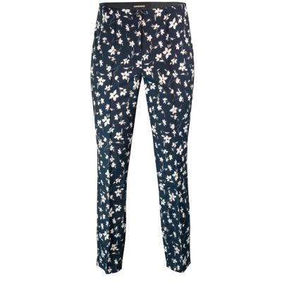 Cambio Ros Pants - Navy w/ White Flowers