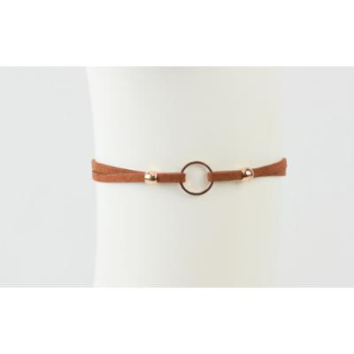 Double Strap Ring Choker
