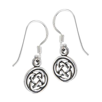 Earring: SS Circle Knot Drop WE4945