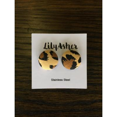 LilyAsher Button Earrings - Light Leo