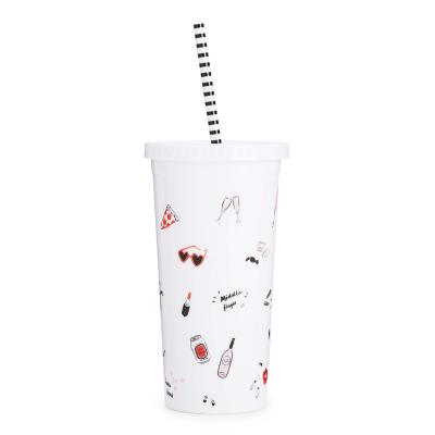 Sip Sip Tumbler W/ Straw - Girls Just Wanna