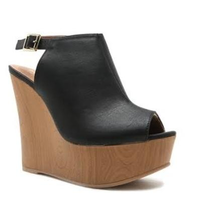 Black Kendall Wedge