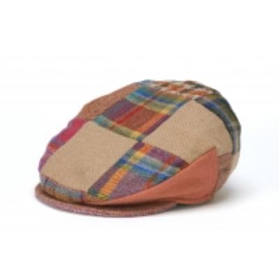 Hat: Linen Patchwork Cap, Bright