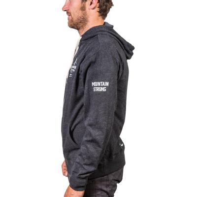 Walk With Us - Men's Hooded Sweatshirt Charcoal Small