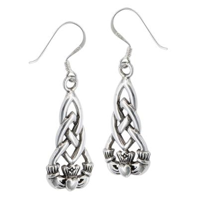 Earring: SS Clad Knot Drop WE4295