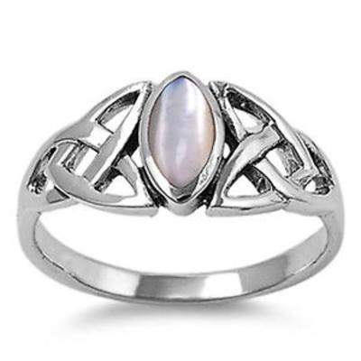 Ring: Mother of Pearl, Marquise, Trinity, SS, Small