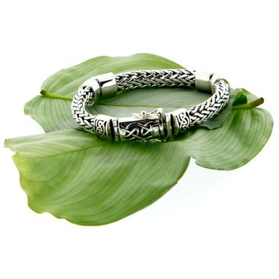 Bracelet: Sterling Dragon Weave Eternity, 3-Hinge