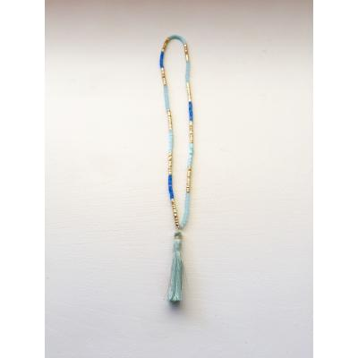Indie Bead & Tassel Necklace